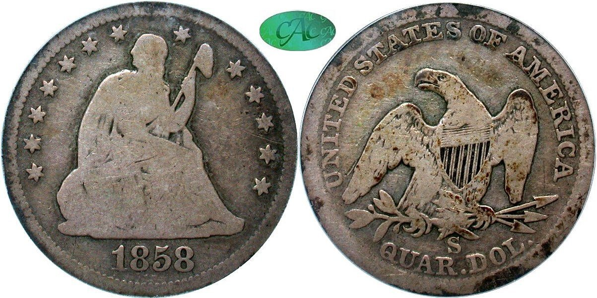 Seated 25C 1858S