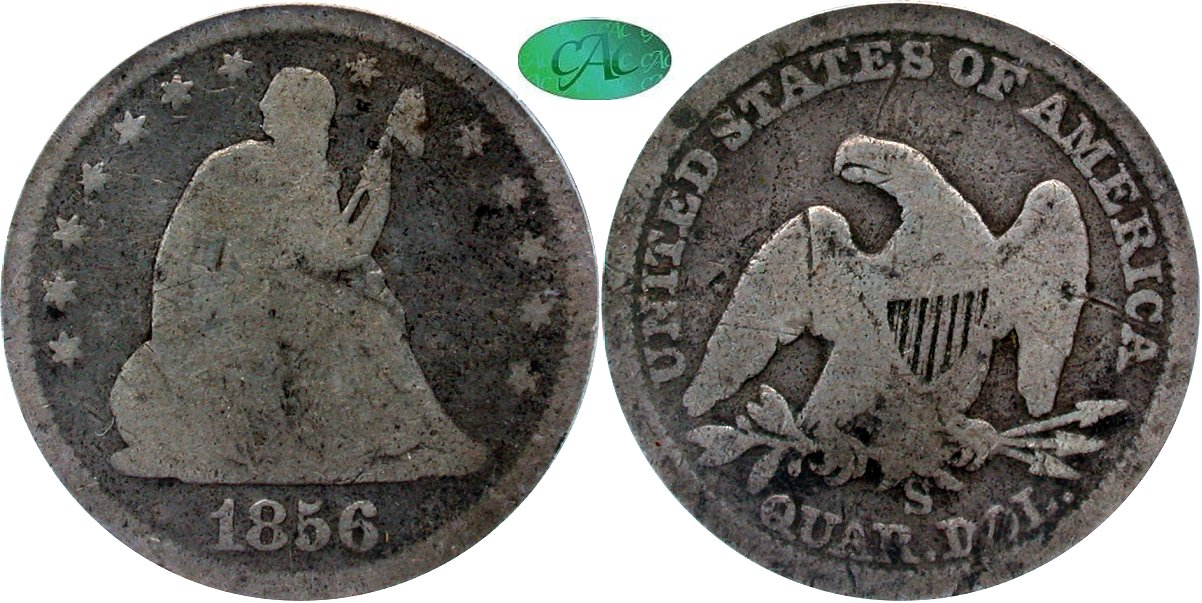Seated 25C 1856S