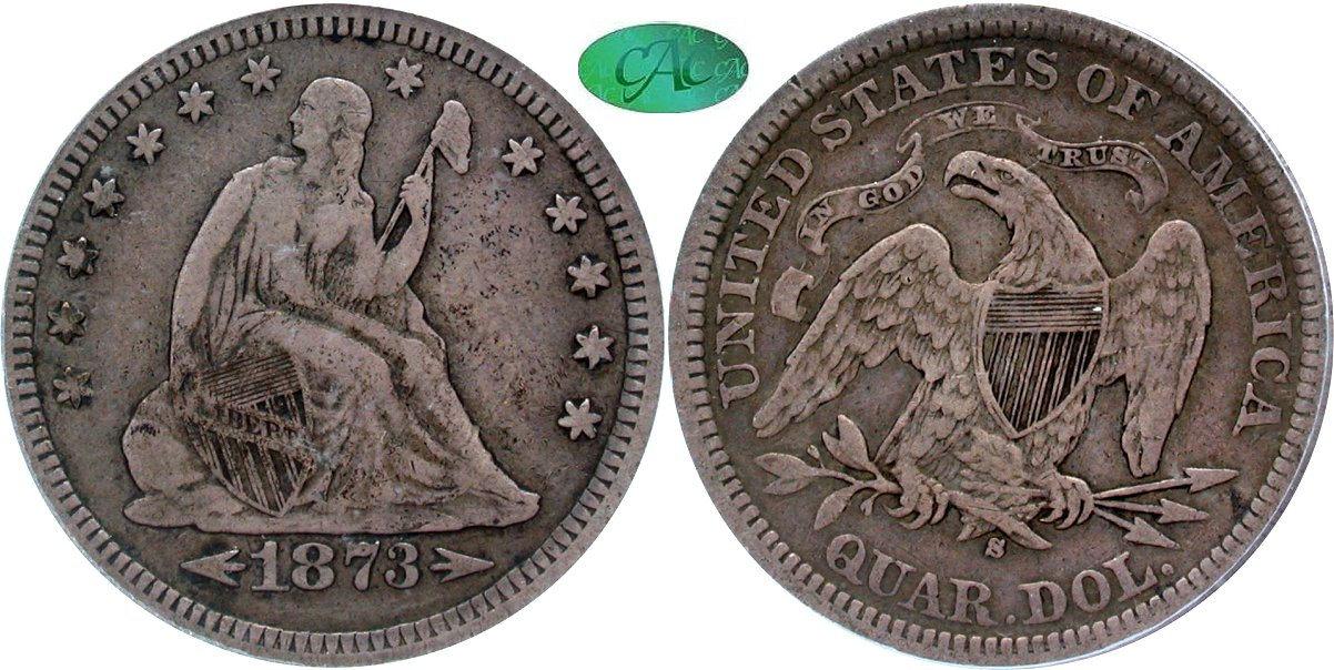 Seated 25C 1873S