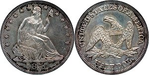 GFRC Open Set Registry - Oregon Beaver 1851 Seated  50C