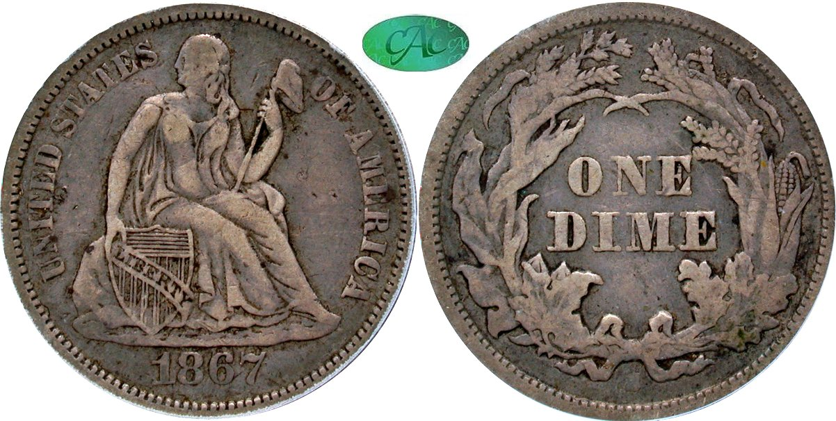 Seated 10C 1867S