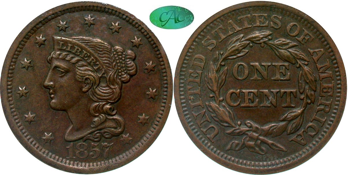 Early Copper 1C 1857