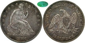 GFRC Open Set Registry - Civil War 1861 Seated  50C