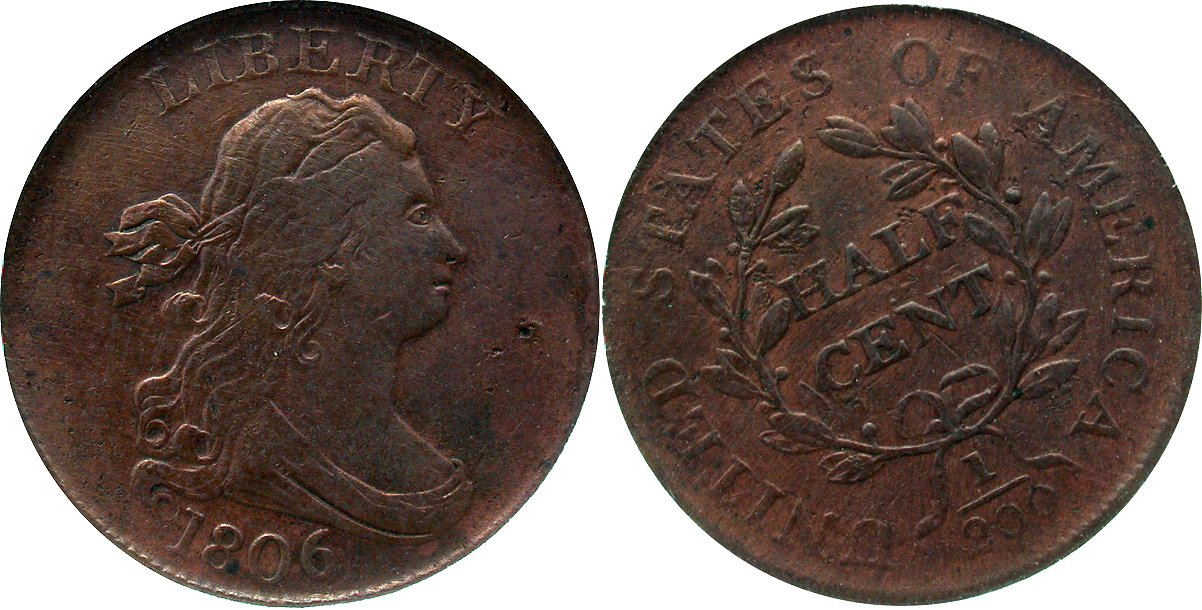 Early Copper 1/2C 1806