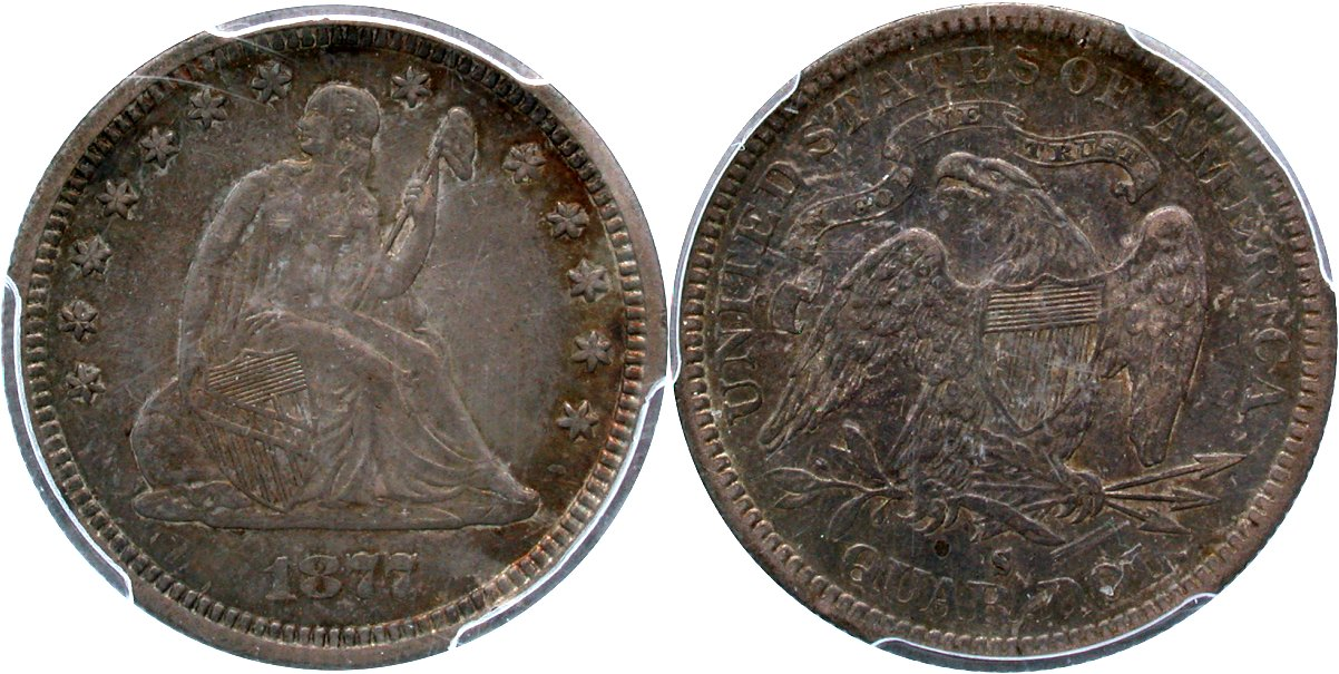 Seated 25C 1877S