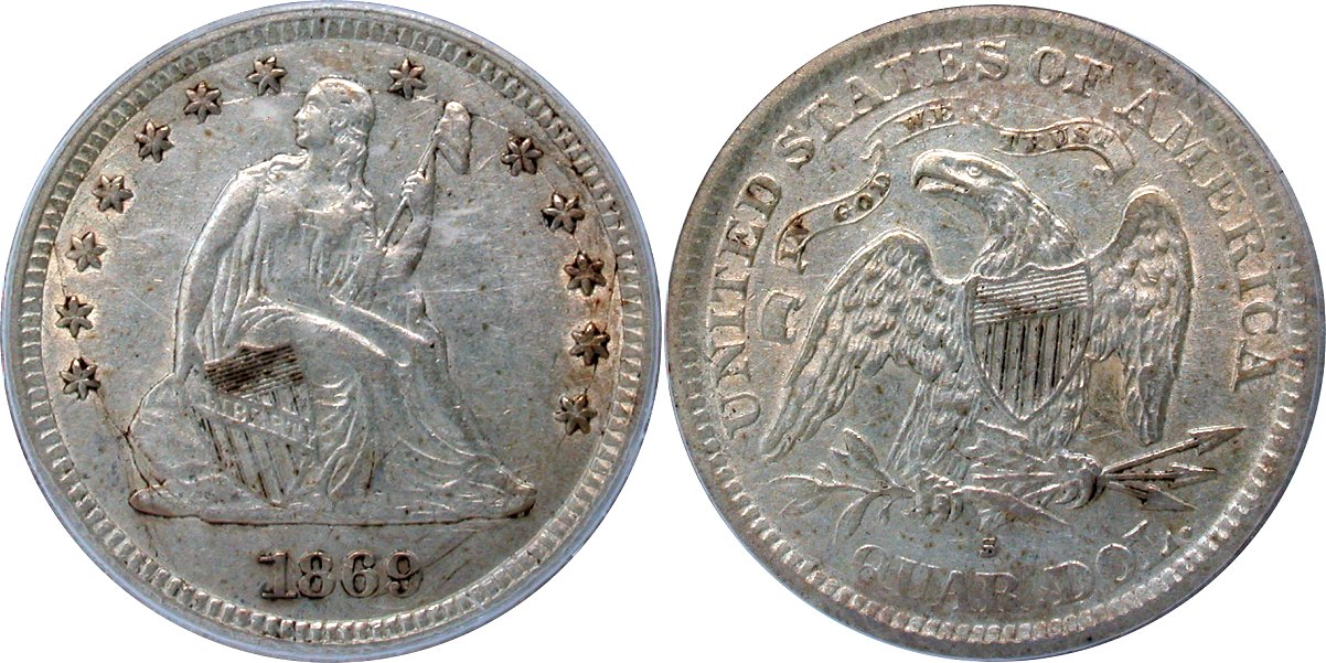 Seated 25C 1869S