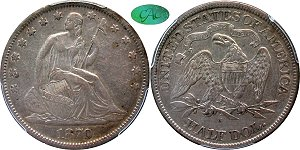GFRC Open Set Registry - BL 1870 Seated  50C