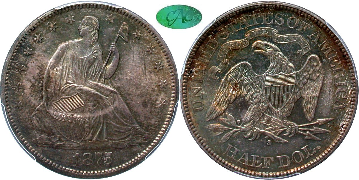 Seated 50C 1875S