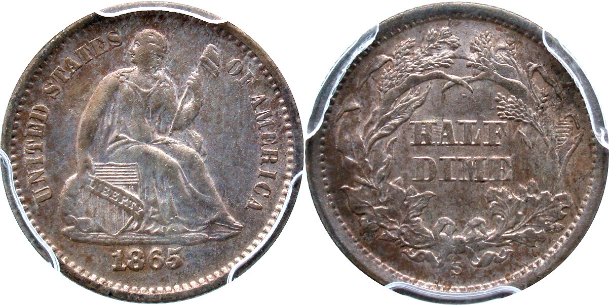 Seated 5C 1865S