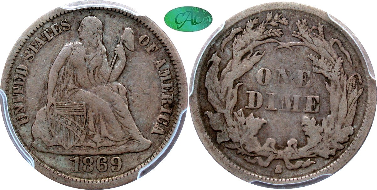 Seated 10C 1869S