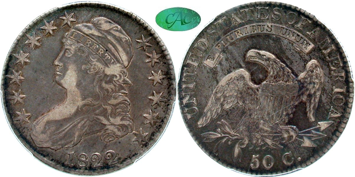 Capped Bust 50C 1822/1