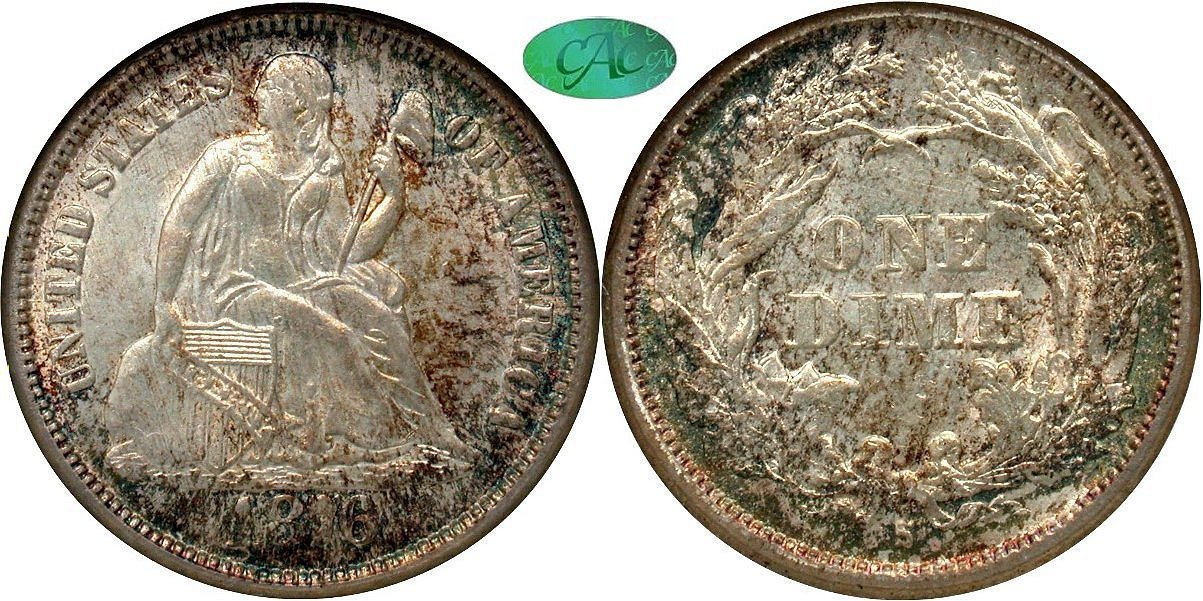 Seated 10C 1876S