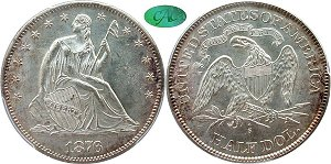 GFRC Open Set Registry - Oregon Beaver 1876 Seated  50C