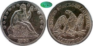 GFRC Open Set Registry - TGM 1859 Seated  50C