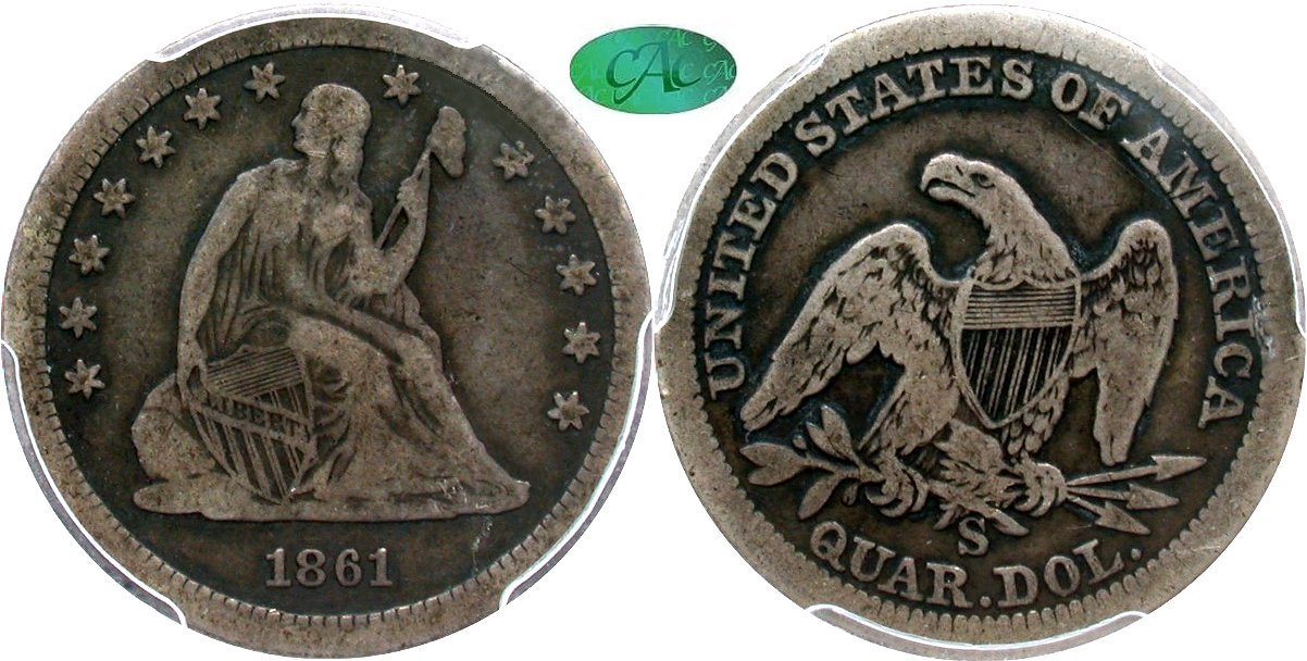 Seated 25C 1861S