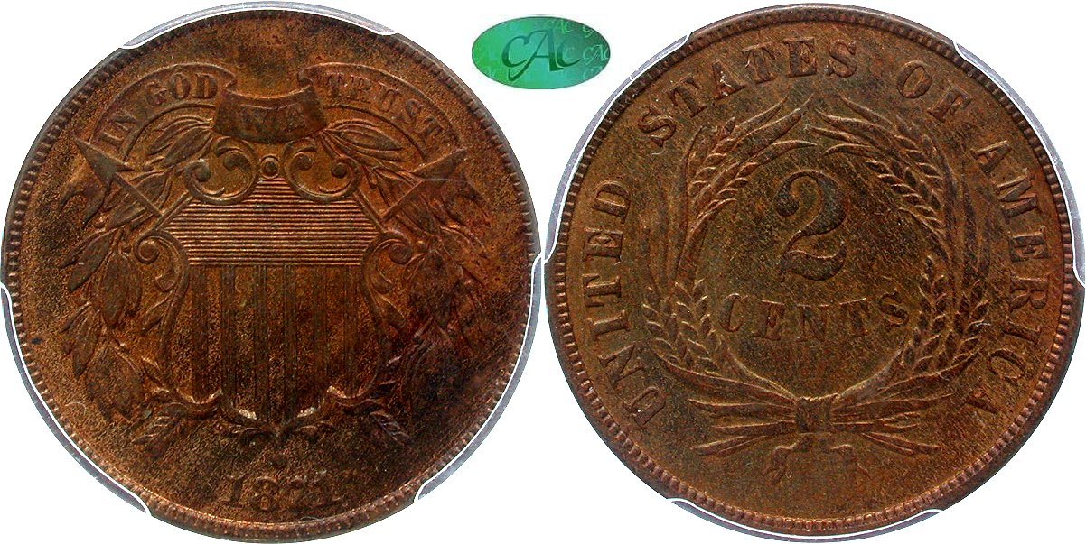 Early Copper 2C 1871