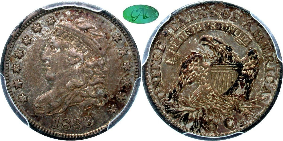 Capped Bust 5C 1833