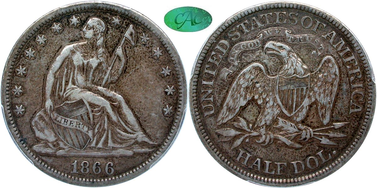 Seated 50C 1866S