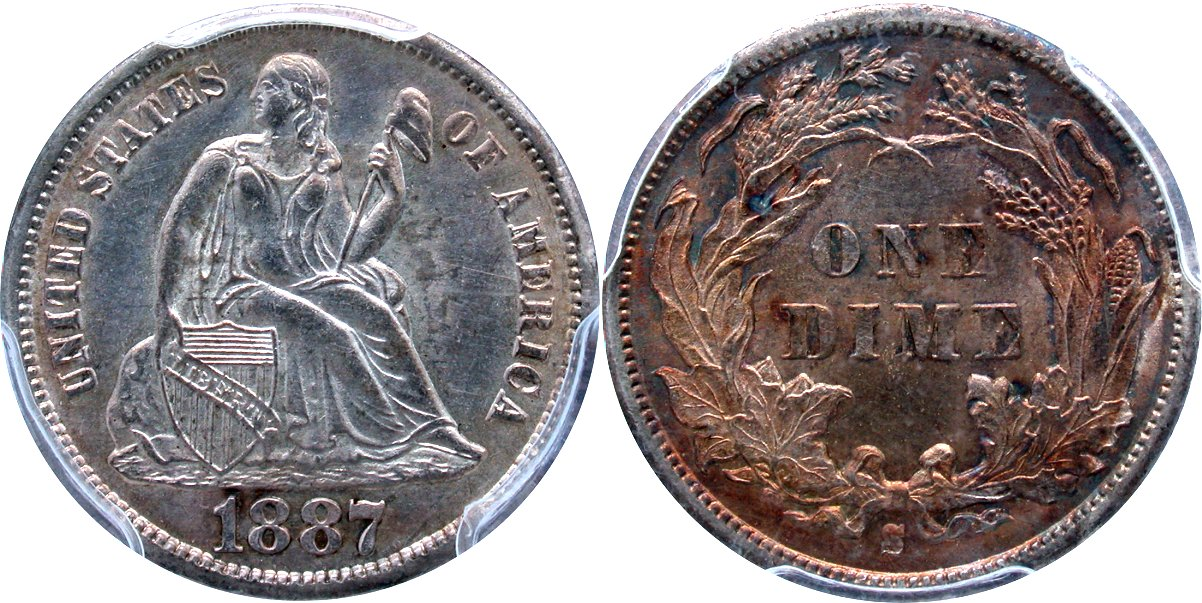 Seated 10C 1887S
