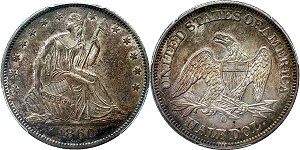 GFRC Open Set Registry - Oregon Beaver 1860 Seated  50C