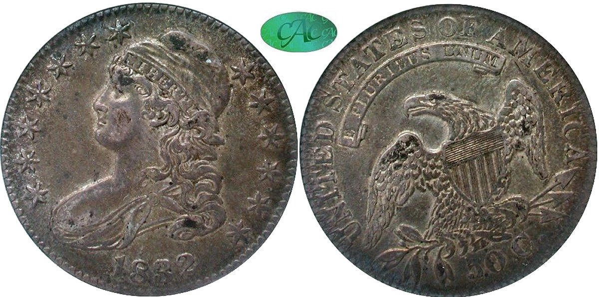 Capped Bust 50C 1832