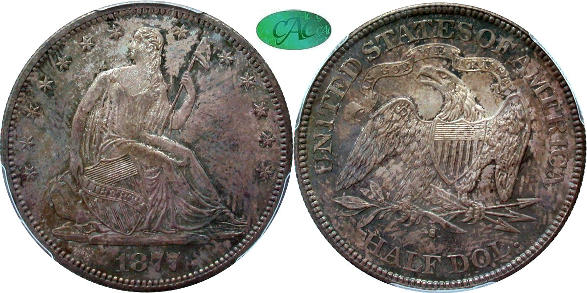 Seated 50C 1877S