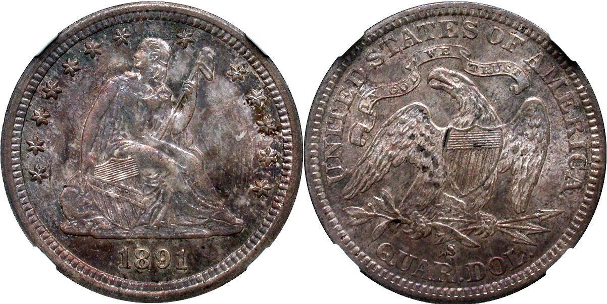 Seated 25C 1891S