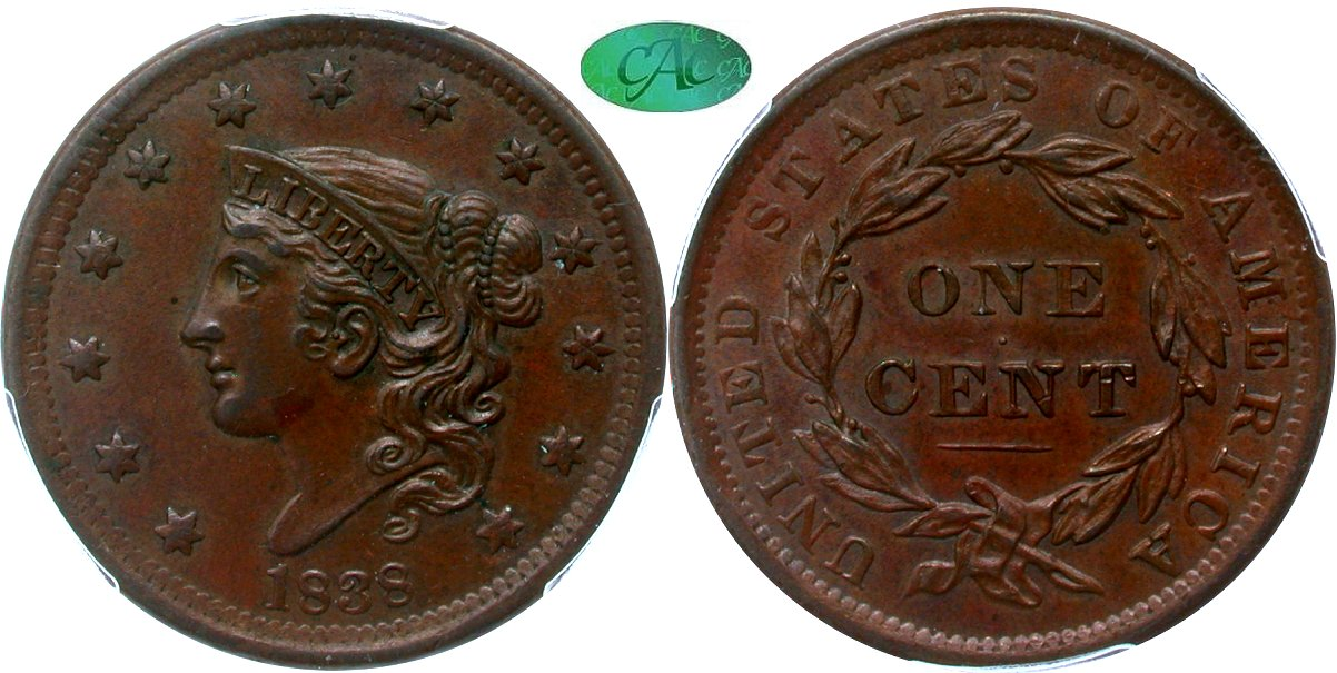 Early Copper 1C 1838