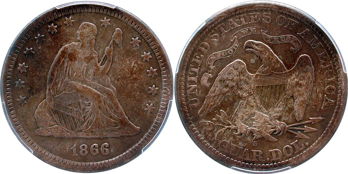 Seated 25C 1866S