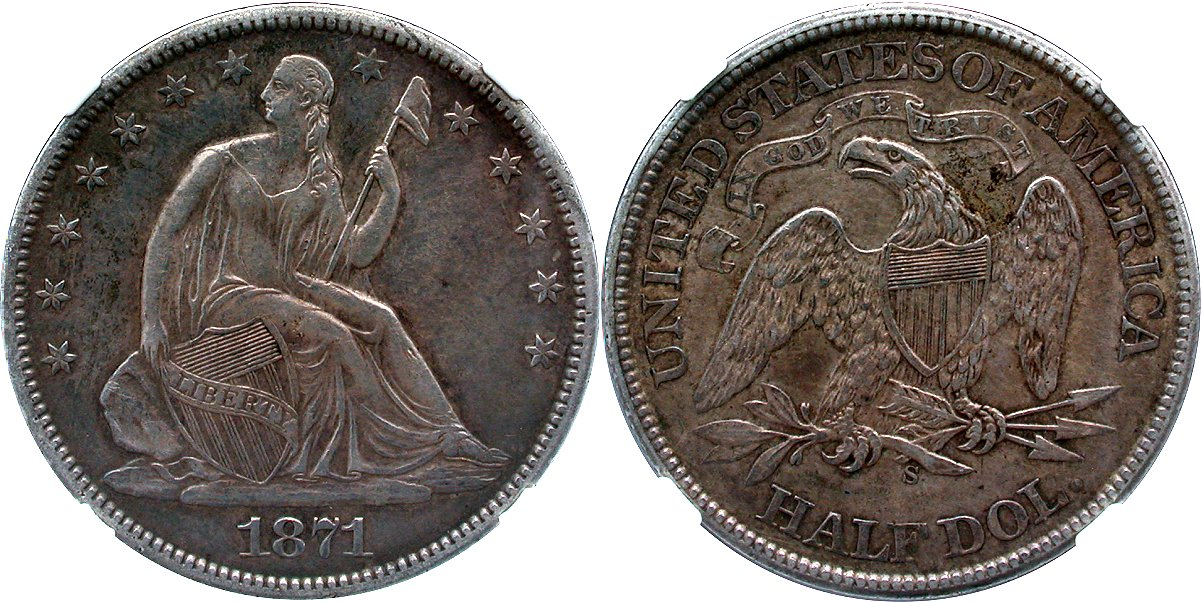 Seated 50C 1871S