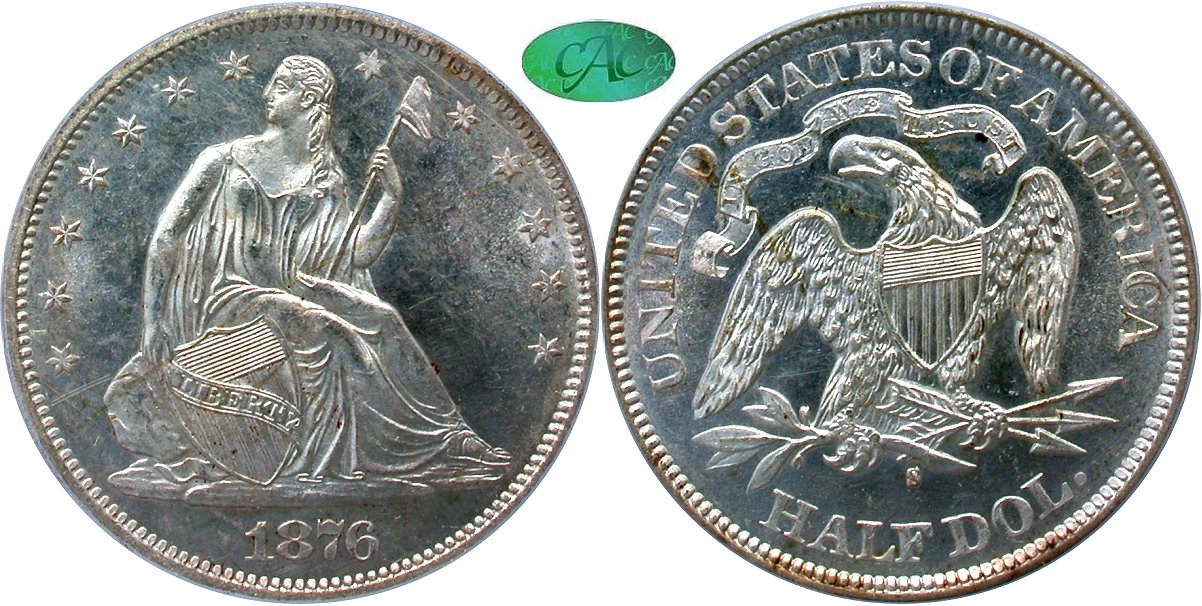 Seated 50C 1876S