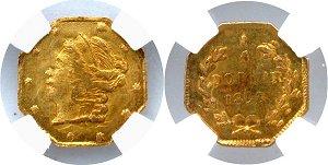 Gold 25C 1859