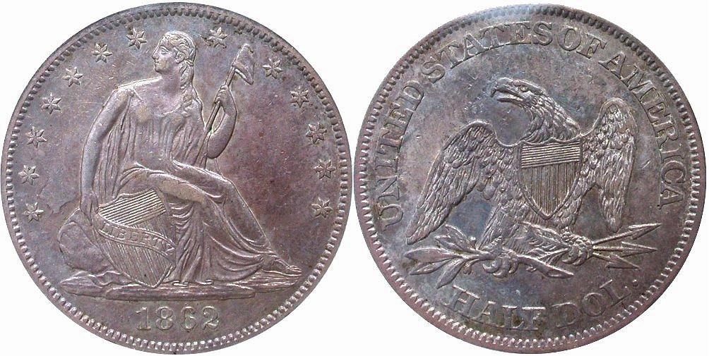 GFRC Open Set Registry - Civil War 1862 Seated  50C