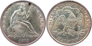 GFRC Open Set Registry - Oregon Beaver 1872 Seated  50C