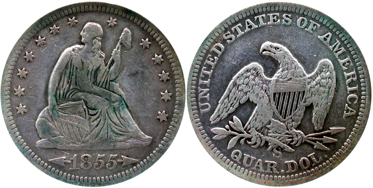 Seated 25C 1855S