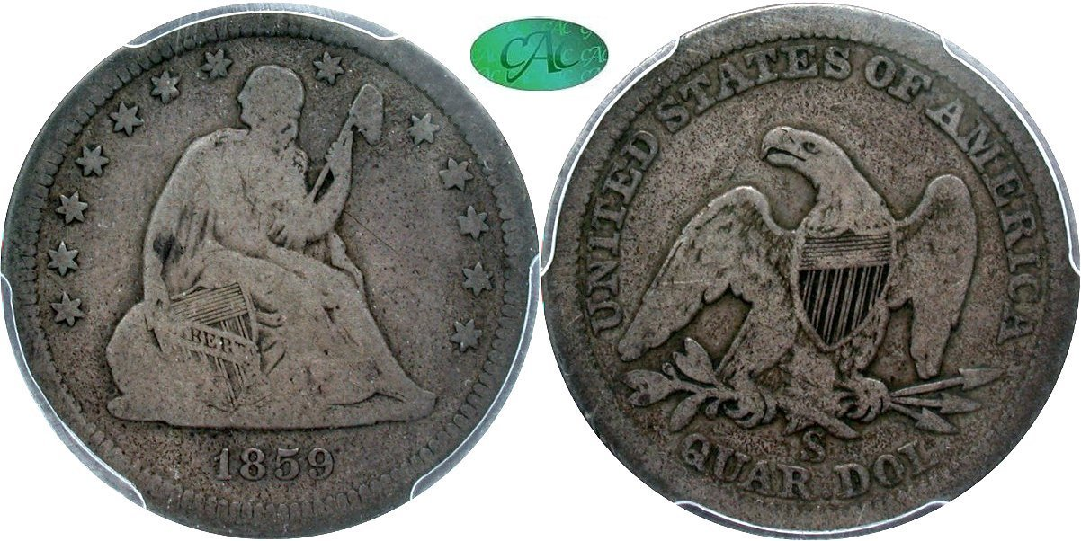 Seated 25C 1859S