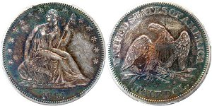 GFRC Open Set Registry - Civil War 1864 Seated  50C