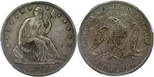 GFRC Open Set Registry - TGM 1867 Seated  50C