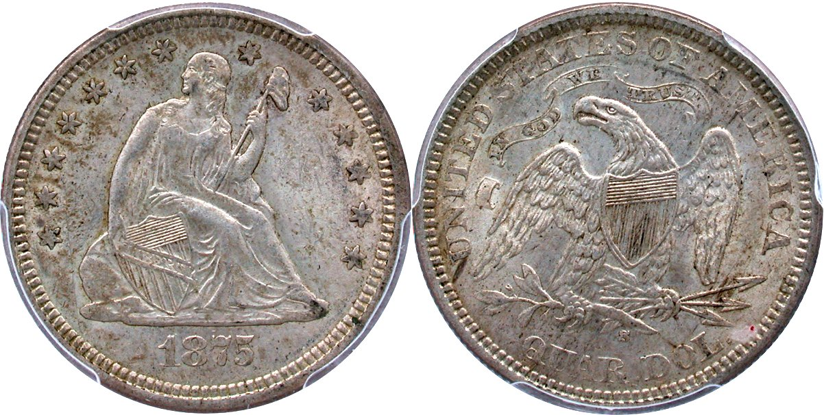 Seated 25C 1875S